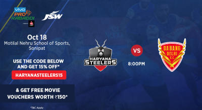 VIVO Pro Kabaddi - Haryana Steelers vs Dabang Delhi K.C