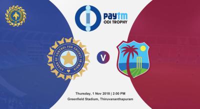 Paytm ODI Series 5th ODI: India v West Indies, Thiruvananthapuram | Sign up for updates