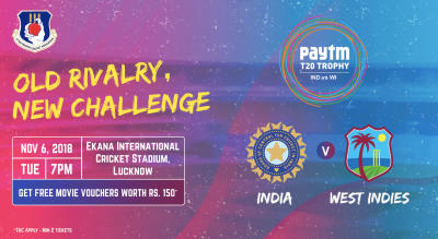Paytm T20 Series: 2nd T20I India v West Indies, Lucknow
