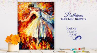 Ballerina Knife Painting Painting by Bombay Drawing Room