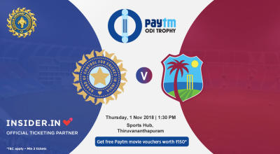 Paytm ODI Series 5th ODI: India v West Indies, Thiruvananthapuram