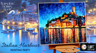 Italian Harbour Painting Party by Bangalore Drawing Room