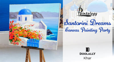 Santorini Dreams- Canvas Painting Party by Paintology