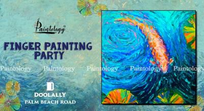 Finger Painting Party 'Koi Fish' by Paintology