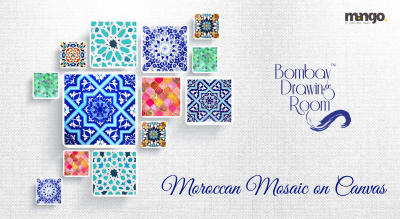 Moroccan Mosaic on Canvas by Bombay Drawing Room