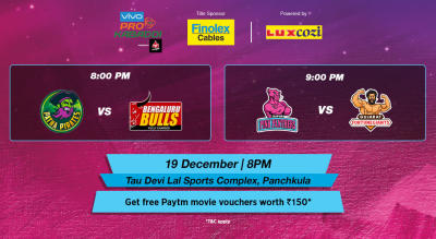 VIVO Pro Kabaddi - Patna Pirates vs Bengaluru Bulls and Jaipur Pink Panthers vs Gujarat Fortunegiants