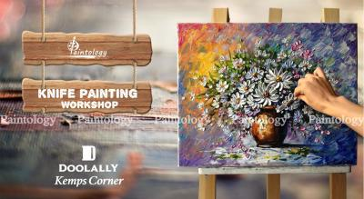 Knife + Brush Canvas Painting Party 'Daisies' by Paintology