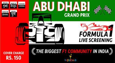 Formula 1 Live Screening - Abu Dhabi Grand Prix, Chennai
