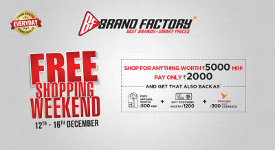 Free Shopping Weekend - Brand Factory