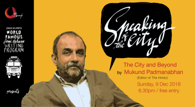 Speaking of the City with Mukund Padmanabhan