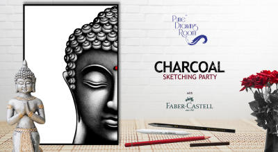 Charcoal Sketching Party by Pune Drawing Room