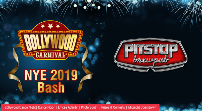 New Year's Eve 2019 Bollywood Carnival Dance Party at PITSTOP BREWPUB