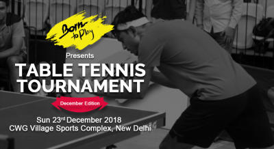 Born To Play Table Tennis Winter Championship
