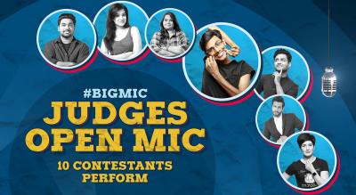 #BIGMIC Judges Open Mic hosted by Biswa Kalyan Rath