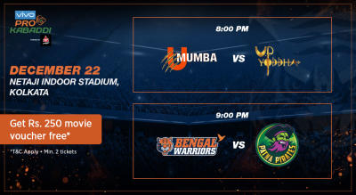 VIVO Pro Kabaddi - U Mumbai vs U.P. Yoddha and Bengal Warriors vs Patna Pirates