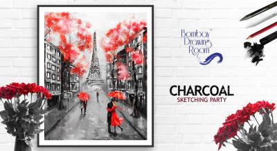 Charcoal Sketching Party by Bombay Drawing Room