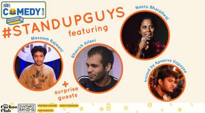 #Standupguys featuring Pavitra Shetty, Bhavish Ailani & Neetu Bharadwaj hosted by Apoorva Vajpayee