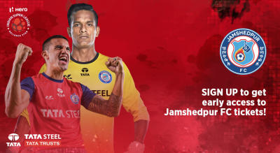 Sign up for updates to Jamshedpur FC - Indian Super League 2018 - 19