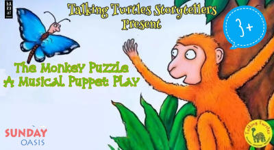 The Monkey Puzzle (by Julia Donaldson) – a musical puppet play | Harkat Sunday Oasis