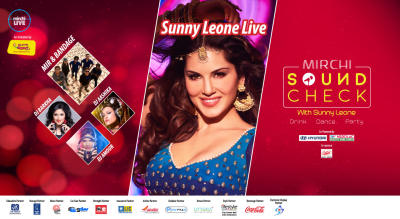 Mirchi Sound Check with Sunny Leone