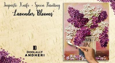Impasto Knife + spoon painting party - Lavender Blooms by Paintology