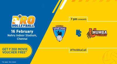 PVL 2019: Chennai Spartans Vs U Mumba Volley