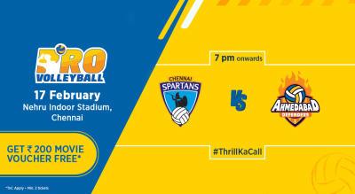 PVL 2019: Chennai Spartans Vs Ahmedabad Defenders