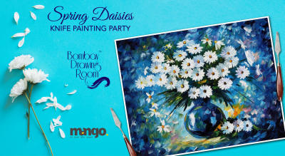 Spring Daisies Knife Painting Party by Bombay Drawing Room