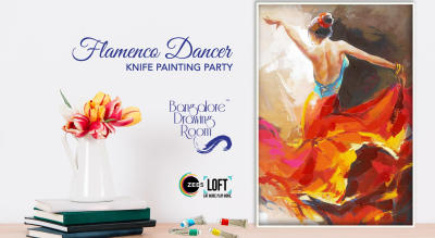 Flamenco Dancer Knife Painting Party by Bangalore Drawing Room