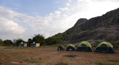 Rock side camping at Ramanagra