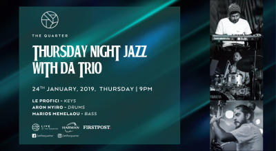 Thursday Night Jazz with DA Trio at The Quarter