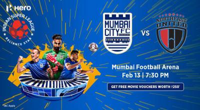 Hero Indian Super League 2018-19: Mumbai City FC vs Northeast United FC