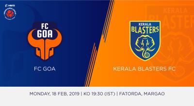 Hero Indian Super League 2018-19: FC Goa Vs Kerala Blasters FC