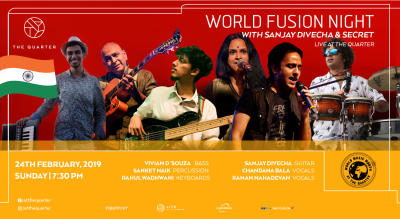 World Fusion Night with Sanjay Divecha & Secret at The Quarter