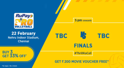 RuPay Pro Volleyball League 2019- Final