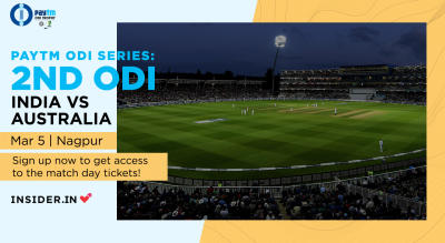 Paytm ODI Series: 2nd ODI India v Australia, Nagpur | Sign up for early access