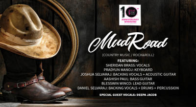 Bflat Turns 10! MUDROAD (country / rock & roll)