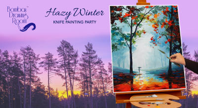 Hazy Winter Knife Painting Party by Bombay Drawing Room
