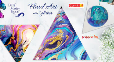 Fluid Art with Glitter by Delhi Drawing Room