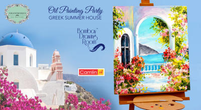 Oil Painting Party Greek Summer House by Bombay Drawing Room