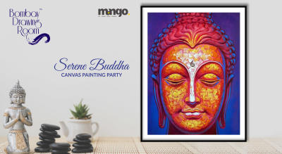 Serene Buddha Canvas Painting Party by Bombay Drawing Room