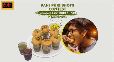 Pani Puri Shots Contest on DP's Fast Food Center