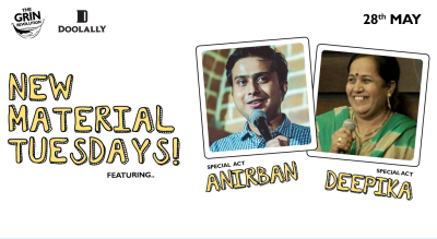 Grin Revolution: New Material Tuesdays w/ Anirban