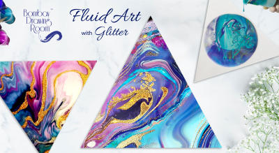 Fluid Art with Glitter by Bombay Drawing Room