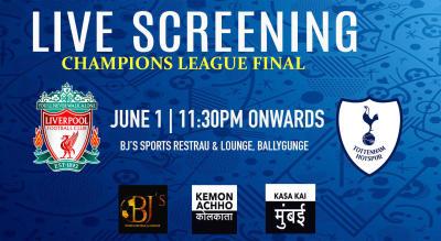 Live Screening : Champions League Final At BJs Sports Restrau Cum Lounge Hazra Kolkata