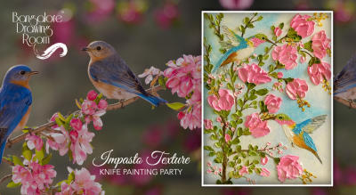 Impasto Texture Knife Painting Party by Bangalore Drawing Room