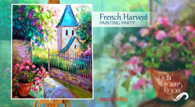 French Harvest Painting Party by Delhi Drawing Room