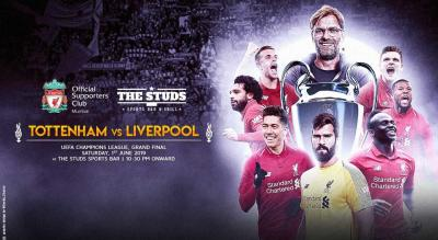 Liverpool v Spurs   UCL Final Screening   Studs Sakinaka