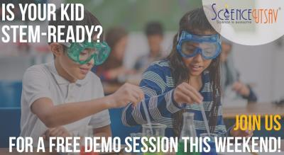 ScienceUtsav's STEM Tinkering Lab and Maker's Space in Bengaluru - FREE Demo