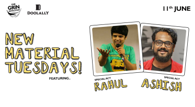 Grin Revolution: New Material Tuesdays w/ Rahul & Ashish
